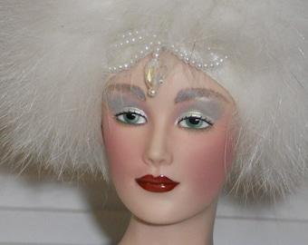 Porcelain Doll Franklin Heirloom Snow Queen 1988 Vintage