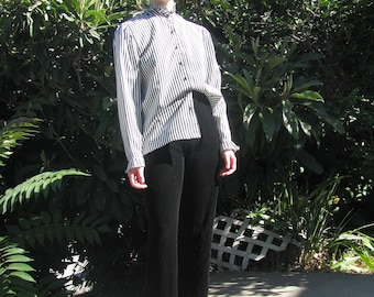 Pinstripe Victorian blouse Sz M