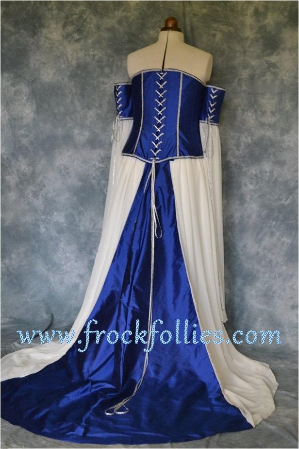 Medieval Wedding Gown Elvish Dress Renaissance Gown