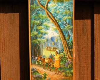 Haitian Painting by A. Stevenson 8x20