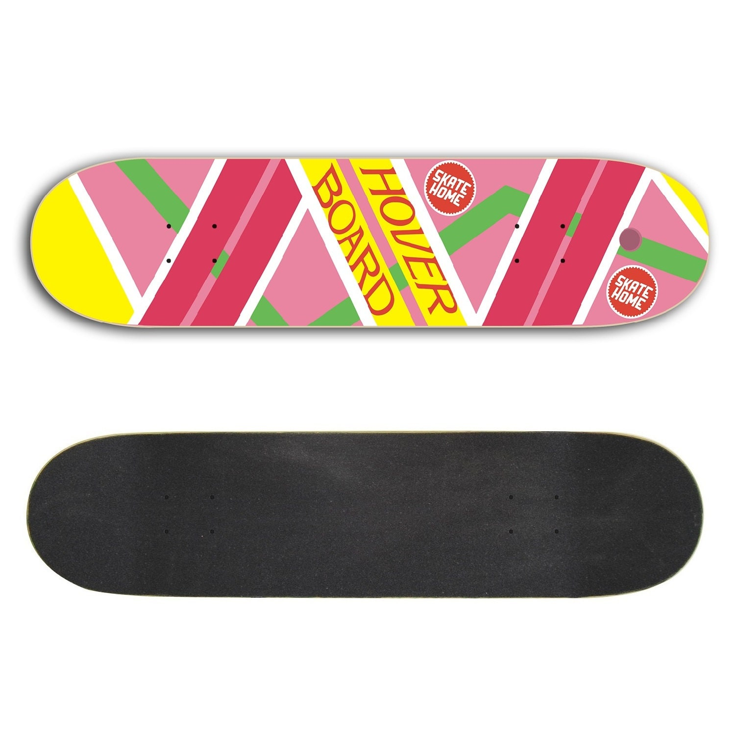Skateboard mit Griptape Hoverboard Back To The Future