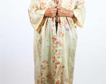 Pongee Silk Kimono Duster