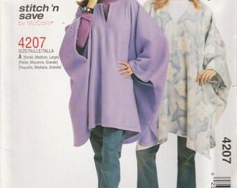Easy Cape Pattern  2003 Misses Size 8 - 18 S, M, L  Uncut Stitch n Save 4207