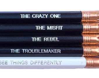 Steve Jobs The Crazy One Quote, Inspirational Pencils