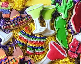 Custom Fiesta Sugar Cookies