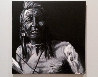 Native American Man Painting