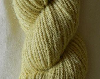 Hand dyed 100% alpaca DK yarn in Moss colourway
