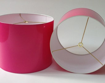 High Gloss Hot Pink Lamp Shades