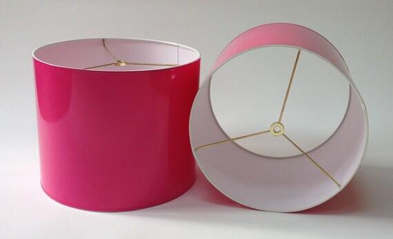 High gloss hot pink lamp shades aloadofball Images