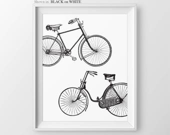 Bicycle Wall Decor Gift For Cyclist Bike Art Print Bicycle Print Home Decor Cyclist Gift Bicycle Art Print Couple Gift Bike Neutral Wall Art