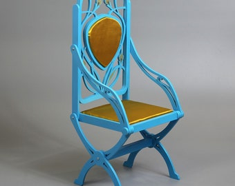BJD Art Nouveau Lily Throne Foldable Doll Chair / Armchair 1/3 SD 70+