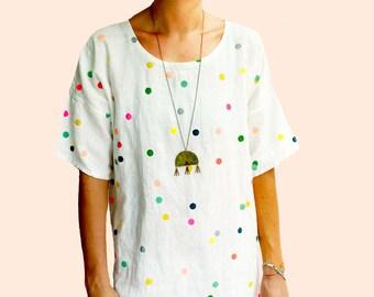 Confetti 100% linen ladies dress