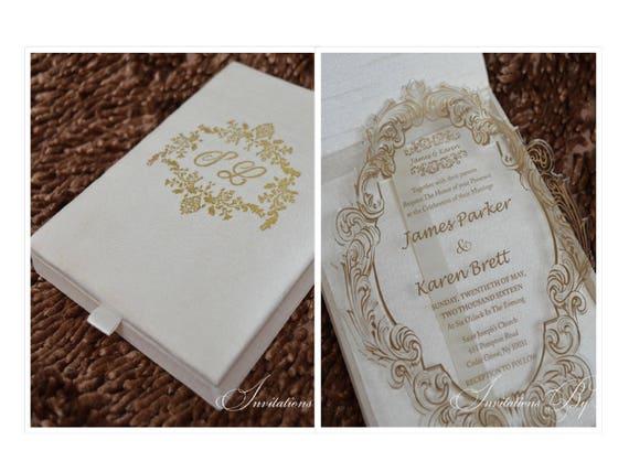 Wedding Invitation In A Box: Acrylic Invitation Acrylic Wedding Invitations Box Acrylic