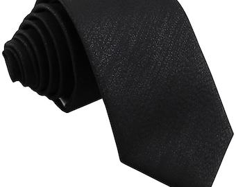 """Men's Glitter Black 2.5"""" Skinny Necktie, for Formal Occasions"""