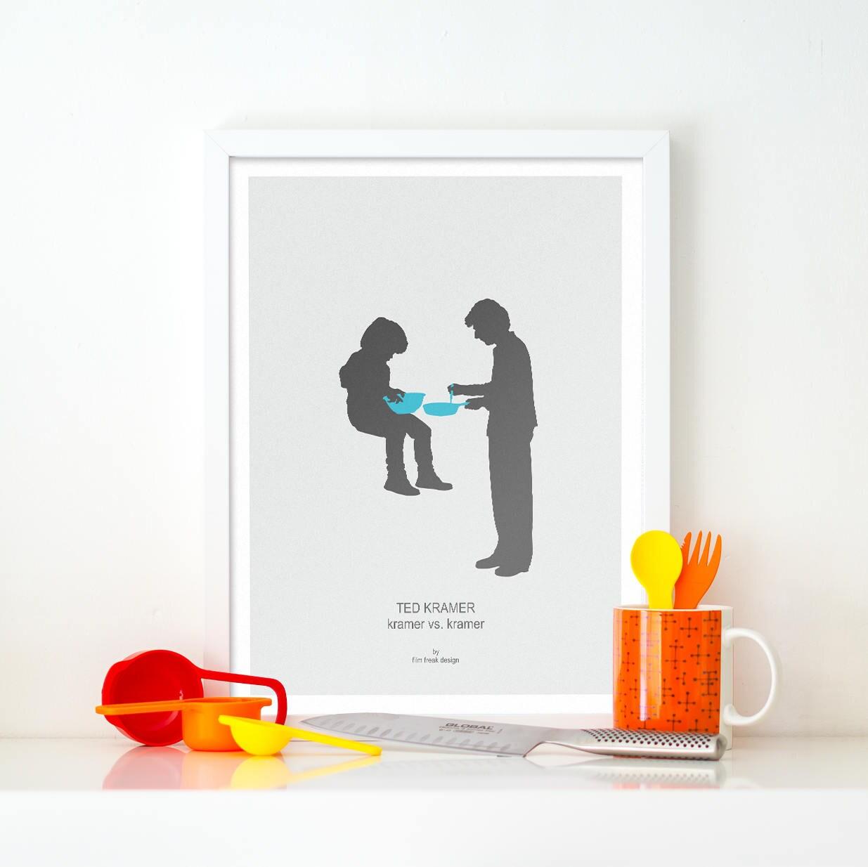 Kramer gegen Kramer minimalistischen Film Poster Dustin