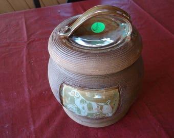 Brittany- New design, stoneware Treat Jar by Ingrid Jonsson.