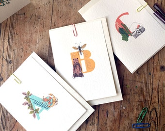 Mix and match alphabet cards