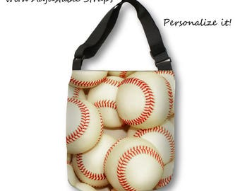 Baseball Tote Bag-Travel Tote-Baseball Bag-Shopping Bag-Canvas Tote-Sports Bag-Team Mom Gift-Large Tote Bag-Beach Bag-Weekend Tote