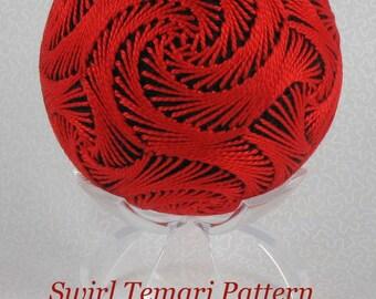 PATTERN Swirl Temari Japanese Temari Ornament by Barbara B. Suess