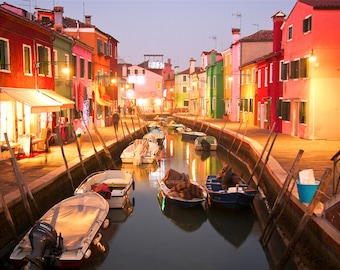 Nightfall in Burano
