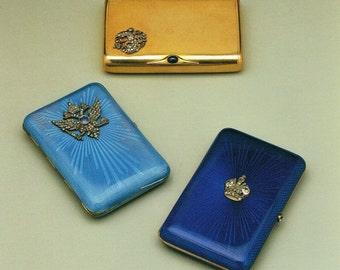 Faberge, Giclee Art Print, Gold, Imperial Cigarette Case, Imperial Eagle, Cigarette Case, Castenskiold Cigarette Case, Russian Artwork