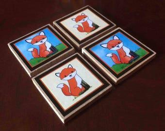 Fox Magnets (set of 4)