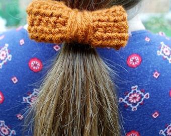 Little Pumpkin Crochet Hair Bow