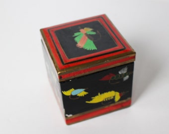 Decorative Container with Fishing Tackle Images