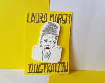 The Grand Budapest Hotel Badge - Madame D pin - Wes Anderson pin - Tilda Swinton gift - fan of Wes Anderson
