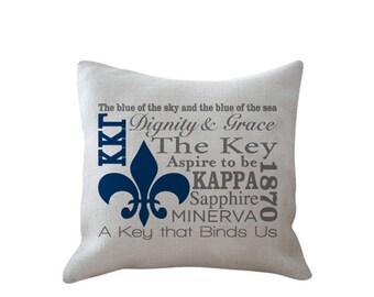 Kappa Kappa Gamma Motto Pillow