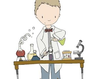 Children Art -- Boy Scientist