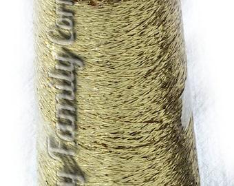 Lame thread. Glitter Yarn sparkle yarn gold color (04) yarn metal yarn lame. Lace thread crochet thread embroiderin lace knitting DSH(P0)