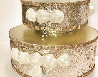 Gold 10in and 8in Cake Stand set