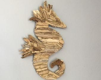 Handmade Driftwood Wall Art Seahorse Wall Art: Beach Decor, Driftwood  Decor, Beach Wall