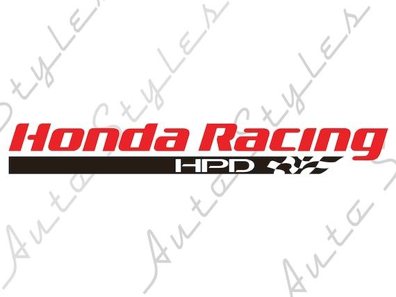 honda civic si type r hpd racing logo window sid decals vinyl rh etsy com civic si color options civic si lights