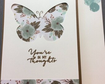 You're in My Thoughts, card