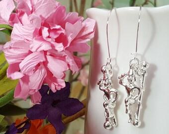 Majorette Earrings, Baton Twirler, Gift For Majorette, Silver Baton Charm, Majorette Gift, Baton Earrings, Marching Band Gift, Drill, E5318