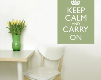 KEEP CALM CARRY ON Vinyl Wall Decal Graphic 22X16 In Poster Style