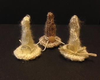 Knit Witch Hat Barrette