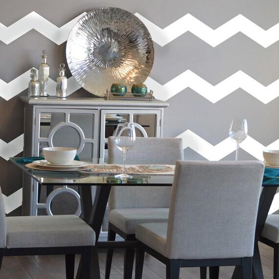 Chevron Wall Pattern Large Wall Decal Custom Vinyl Art - Custom vinyl wall decals for classrooms