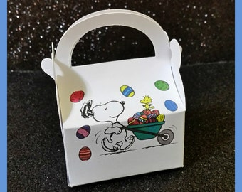 snoopy easter favor box snoopy easter party favor box snoopy easter egg hunt box