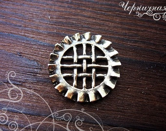 Steampunk antique brass jewelry findings - Round circle spacer findings - Steampunk findings spacer L1457. Designed and made by Anna Bronze