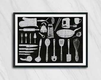 kitchen art print decoration