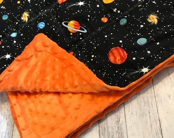 Weighted blanket Glow in the dark outer space weighted blanket 35X40 Sleep Anxiety 6lbs