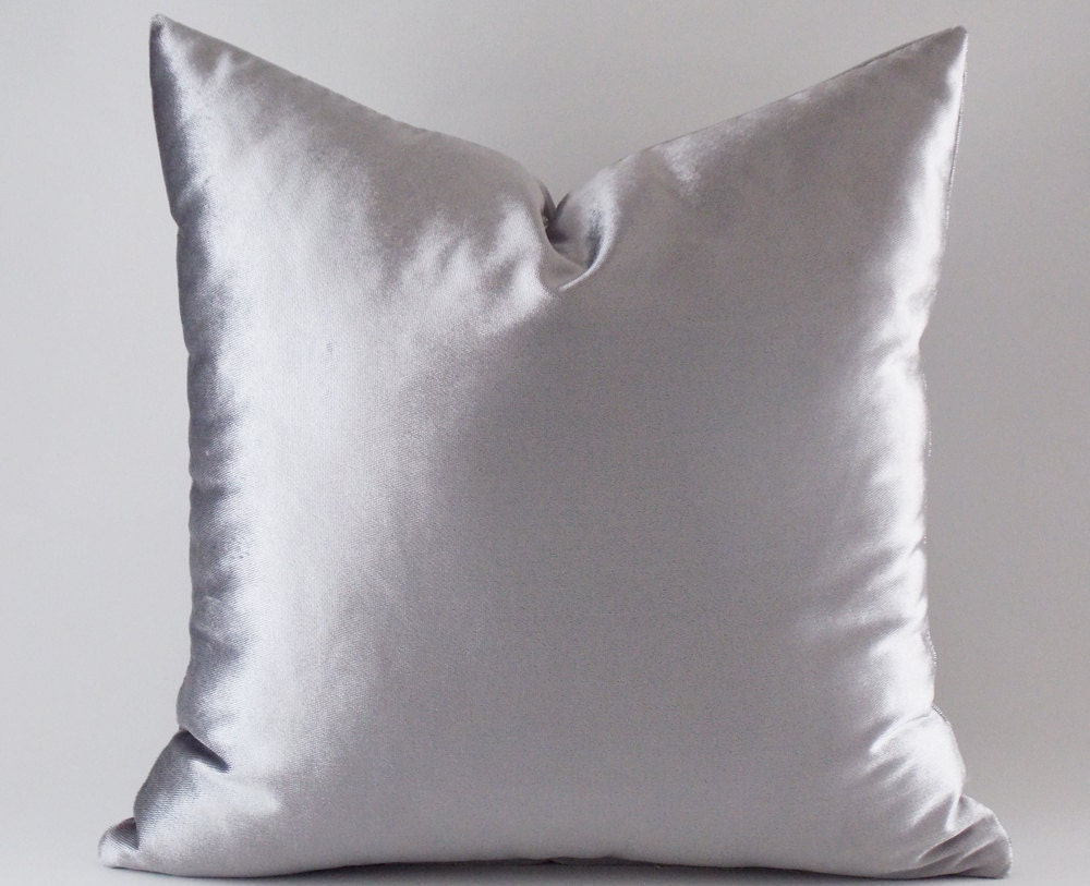 Silver Velvet Pillow Covers Decorative Velvet Pillows Throw