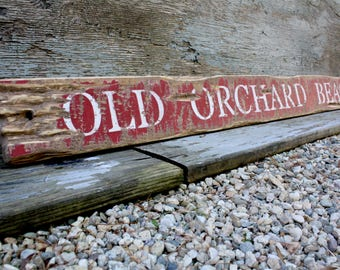 IN STOCK Old Orchard Beach Maine Wood Sign Beach Decor Rustic Wood Sign Coastal Decor 48""