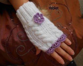 knit accessories/Knit Fingerless gloves /Arm Warmers /wool mittens women/Knitted Fingerless Mittens/wool gloves knitted/gloves women