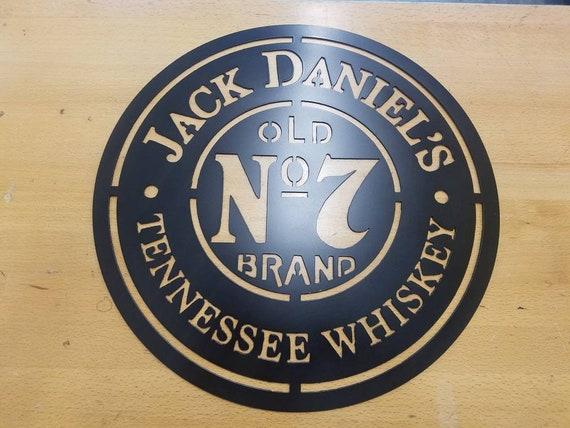 Jack Daniel\'s Old No 7 metal wall art plasma cut decor