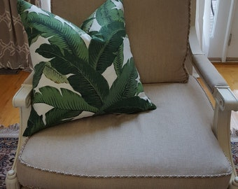 Tommy Bahama Modern Green Palm Leaf pillow cover - Beverly Hills Hotel - Tropical - various sizes