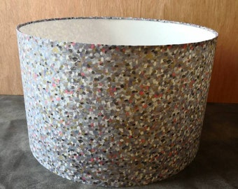 Liberty Pointillism Cream Speckled 40cm Drum Lampshade